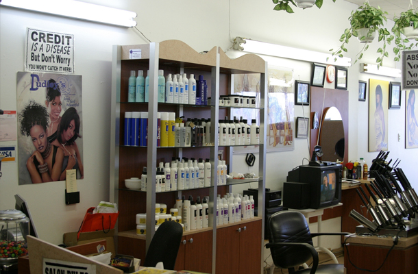 products at the salon